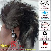 Phụ Kiện Đồ Ngủ Đuôi Cáo Màu Xám Fox Tail Anal Plug Cosplay BCS21
