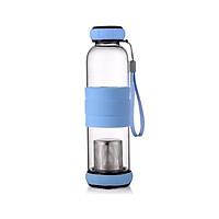 Bình nước thủy tinh có ngăn lọc trà 550ml ( tặng kèm ví đựng thẻ card )