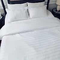 Bộ Chăn Ga Gối Cottong 3F Chuyên Dùng Cho Nhà Nghỉ Khách Sạn - Màu Trắng