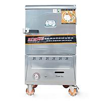 Tủ Nấu Cơm 6 Khay Điện Gas