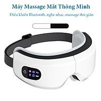 Máy Massage Mắt Thông Minh Eyes Care - Massage Mắt Công Nghê Cao Bằng Túi Khí Đôi, Massage Rung Tần Số - Máy Massage Mắt Tích Hợp Bluetooth Nghe Nhạc - Giảm Mỏi, Khô Mắt, Quầng Thâm - Cải Thiện Giấc Ngủ