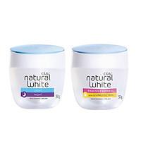Combo Kem dưỡng Olay dưỡng da trắng hồng ngày đêm Natural White 50g