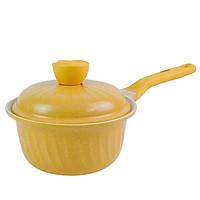 Quánh kháng khuẩn 7 lớp  phủ TITANIUM Happy Home Pro chất lượng Hàn Quốc màu vàng size 18cm