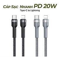 Cáp Sạc Nhanh 20W Dành Cho iPhone iPhone Type C to Lightning PD 20W Remax RC-171, Chip E-marker, Chống Sạc Quá Tải, Chống Gãy Cáp - Hàng Chính Hãng