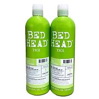Cặp đôi gội - xả Bed Head Tigi xanh lá số 1 tái tạo sinh lực cho tóc