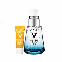 Dưỡng Chất Khoáng Cô Đặc Giúp Phục Hồi Cho Da Căng Mịn Vichy Mineral 89 (30ml) Tặng Kem Chống Nắng Không Gây Nhờn Rít Vichy 3ml