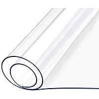 Tấm nhựa (PVC) dẻo, màu trắng trong suốt, Chống thấm nước, Chống thấm dầu, Chống trượt dùng làm Trải bàn ăn, bàn khách, tủ tivi, vách ngăn, mái che mưa ngoài trời, ban công, mái cho vườn cây... dày 0.5mm
