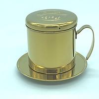 PHIN CAFE INOX 304 MẠ VÀNG( HÌNH CON CHỒN)