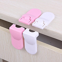 Baby Safety Drawer Locks Double Sided Adhesive Kids Security Protection Right Angle Lock