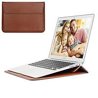 Túi Laptop Da 11 12 13 15 16 Inch Huawei Dành Cho MacBook M1 Air Pro 2012 ~ 2020 Máy Tính chất Liệu Vải Nữ Tay Bao Phụ Kiện