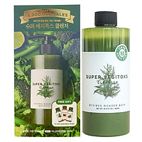 Sữa rửa mặt thải độc rau củ Byvibes Wonder Bath Super Vegitoks Cleanser 300ml (Màu xanh)