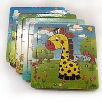 Bộ ghép hình logic 5 con vật bằng gỗ trẻ em