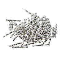 100 Pieces Alloy Tibetan Silver Straight Bar Connectors Jewelry Making Findings Charms Accessories for DIY Craft 22x3mm