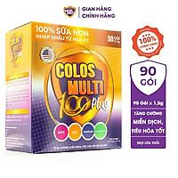 Sữa bột Colosmulti 100 Plus hộp 90 gói x 1,5g tăng sức đề kháng, phát triển thể chất cho trẻ