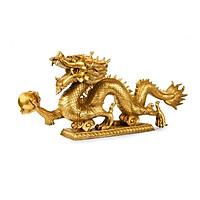 Tượng Rồng bằng đồng thau cỡ tiểu dài 12cm