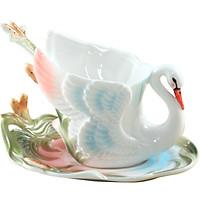 Quà tặng Tách coffee họa tiết Thiên Nga sang trọng