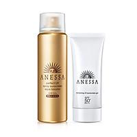 Bộ chống nắng dưỡng trắng và bảo vệ hoàn hảo Anessa (Perfect UV Sunscreen Skincare Spray SPF50+, PA++++ 60g + Whitening UV Sunscreen Gel SPF50+, PA++++ 90g)