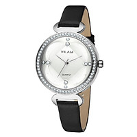 Vilam Fashion Cool Stylish Brand Women Female Quartz Rhinestone Crystal Watch 3 ATM Water Resistant PU Leather Watchband