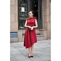 Đầm dự tiệc sang trọng tà xéo hoa hồng vai TRIPBLE T DRESS -size M/L (kèm ảnh/video thật) MS112Y