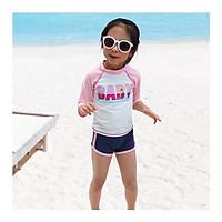 Đồ bơi bé gái BABY hồng dễ thương (tặng kèm băng đô)