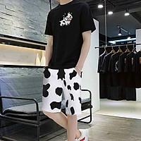 Set Đồ bộ nam nữ in hình BÒ SỮA HOT TREND vải thun lạnh mềm mịn, Thời Trang Phong Cách Hàn-Lee's Home (Freesize từ 45-70kg)-Nhiều kiểu lựa chọn