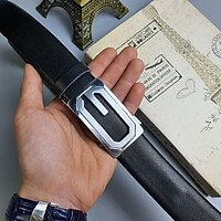 [Da thật] Thắt lưng công sở da bò 3 lớp BL110 khóa trượt cao cấp (35mm) - 100% da bò thật, BH 3 năm