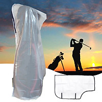 Translucent PVC Rain Cover Golf Bag Rainproof Waterproof Storage Protection