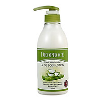 Sữa dưỡng thể tinh chất nha đam Deoproce Aloe Fresh Moisturizing Aloe Body Lotion 500ml