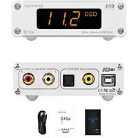 Bộ Giải Mã Âm Thanh TOPPING D10s DAC Mini USB DAC XMOS XU208 ES9038Q2M DSD256 PCM 384kHz Hi-Res Audio Desktop Audio Decoder - Hàng Chính Hãng