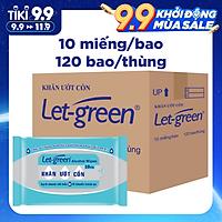 Combo 120 Gói Khăn Ướt Cồn Let-green (10 Tờ x 120)