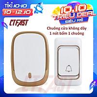 Chuông cửa không dây thông minh CTFAST CAZI - 01, chống nước, khoảng cách sử dụng hiệu quả 300 mét, 36 bài nhạc chuông - hàng chính hãng