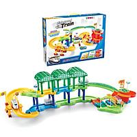 Đồ chơi đường ray tàu hỏa KAVY 58 chi tiết tàu hỏa cao tốc cho bé, phát huy tính thực hành và sáng tạo của trẻ