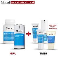 Bộ Murad Acne: Viên uống mụn Pure Skin Clarifying 120 viên + Gel Dưỡng Oil-Free Water 47ml TẶNG 30 Days Acne Kit