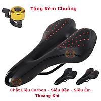 Yên xe đạp thể thao , Carbon siêu êm , Chính hãng Sengxin , da PU cao cấp - Tặng kèm chuông 02