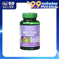 Viên uống Puritan's Pride Milk Thistle 4:1 Extract 1000 mg (Silymarin) 180 viên, giải độc, tăng cường chức năng gan, phục hồi các tế bào bị tổn thương, giảm mệt mỏi, suy nhược cơ thể