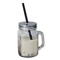 Bộ 10 Ly Thủy Tinh Có Quai Đựng Trà Sữa Camdaco 450ml - Nắp Thiếc màu ngẫu nhiên