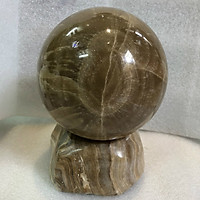 Cầu bi đá phong thủy 12 cm nặng 3 kg cho người mệnh Kim và Thổ đá canxide Việt Nam (12cm3kg)