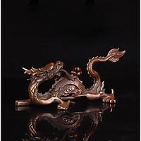 Tượng linh vật rồng phun châu nhả ngọc bằng đồng thau phong thủy Hồng Thắng
