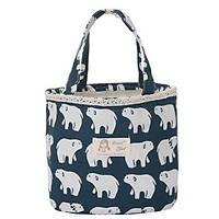 Túi đựng cơm giữ nhiệt tốt Animal vải Oford + tặng kèm 01 sổ tay