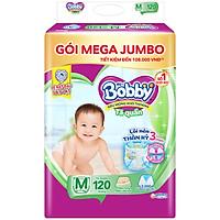 Tã quần Bobby Mega Jumbo M120 - Lõi nén thần kì 3mm - Siêu mỏng khô thoáng bất ngờ