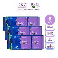 Băng vệ sinh thảo dược Doctor Care ban đêm 33.8cm Combo 6 gói