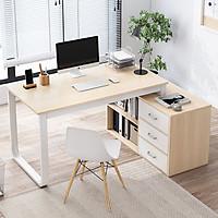 Bàn làm việc kèm tủ để đồ, bàn làm việc chữ L BAH051