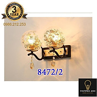 Đèn Tường  Mã 8472/2 bóng LED đôi Trang Trí Phòng Khách, Phòng Ngủ, Cầu Thang, Quán Cafe, Nhà Hàng