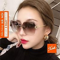 Kính râm nữ cao cấp thời trang khung kim loại sang chảnh chống nắng chống bụi K3037