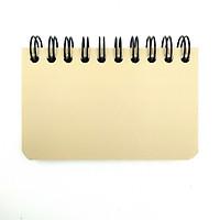 Sổ Học Từ Vựng Lò Xo Bium Mini 82688 - Nâu Nhạt