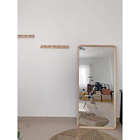 Gương Đứng Toàn Thân Viền Gỗ Thông KT 60x170cm, Trang Trí Nhà Cửa