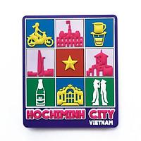 Nam châm lưu niệm - thành phố Hồ Chí Minh - vuông tím