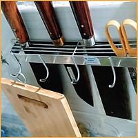 Giá cài dao thớt đa năng chất liệu inox 304 toàn phần có móc treo,hàng bền đẹp đảm bảo không han gỉ  Gelife SRV00975