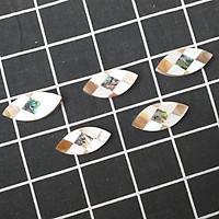 Bộ 5 chiếc Gác đũa Xà Cừ Hình Thoi 4,5cm - Phụ kiện giúp bàn ăn sang trọng (R13)