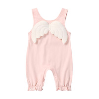 NEW Summer Infant Baby Girl Wings Design Sleeveless Rompers Kids Rompers Jumpsuit Clothes Cotton
